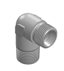Verloop kniekoppelingen BSPT - Metrisch (L/S) male
