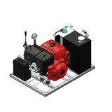 Hydrauliek aggregaat powerpack met 13 pk benzinemotor basis set