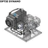 Hydrauliek aggregaat powerpack met 13 pk benzinemotor dynamo