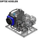 Hydrauliek aggregaat powerpack met 13 pk benzinemotor koeler