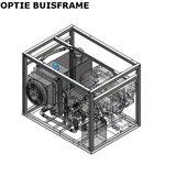 Hydrauliek aggregaat powerpack met 13 pk benzinemotor buisframe