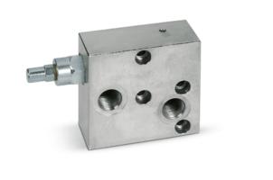 Enkelwerkende balanceerklep flensbaar hydromotor VBCDF 1/2