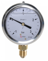 Manometer aansluiting onder 63mm rvs gevuld met glycerine 1-3 bar