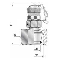 Minimess koppeling female - 10L (M16x1,5) met metrische wartel en o-ring