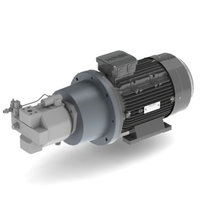 7,5 kW, 230/400 V, elektromotor met voor gemonteerde plunjerpomp 28 cc (regelbaar)