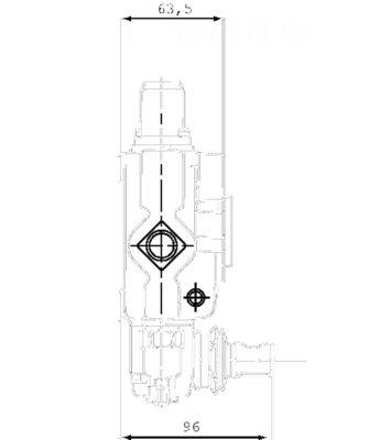 Stuurventiel Walvoil 1 sectie 18L-AET handbediend 45L/min