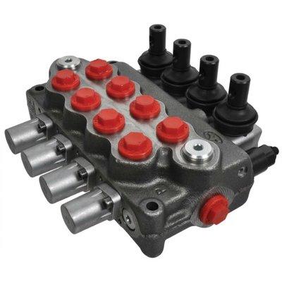 Stuurventiel Walvoil 4 secties 18-18-18-18L AET handbediend 45L/min