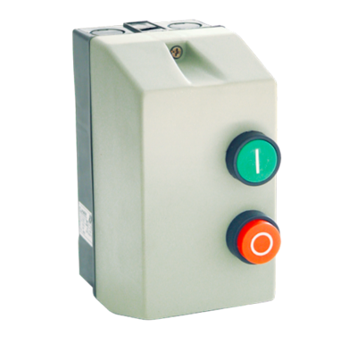 Motor start relais 230V inclusief kast en motorbeveiliging 9A