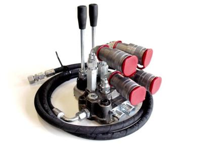 Tractor koppelset met 2 sectie dubbelwerkend stuurventiel