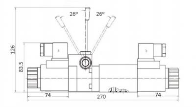 NG6 24V Cetop 4/3 stuurventiel met handbediening, H-middenstand