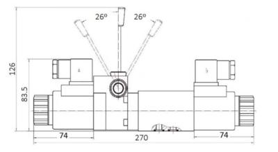 NG6 110V Cetop 4/3 stuurventiel met handbediening, ABT verbonden P gesloten