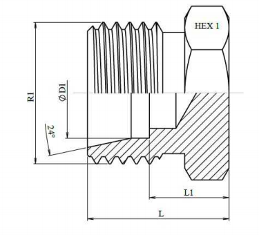Metrische blindplug Ø 18L M26x1.5