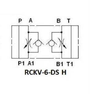 NG6 Tussenblok smoring met terugslagklep in A en B (uitgaand)