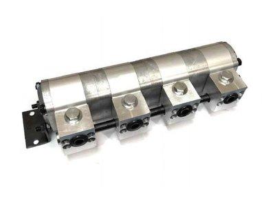 Verdeelmotor, 4-voudig, 11,4-22,7 l/min zonder drukveiligheid