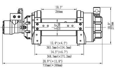 Hydraulische treklier 6804kg