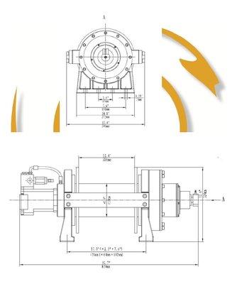 Hydraulische treklier 9072kg