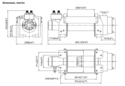 Hydraulische treklier ComeUp HV 10 4500kg