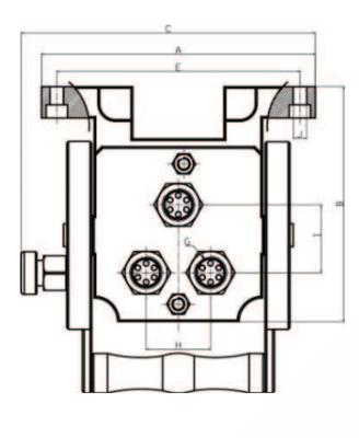 Hydraulische multi koppeling 3 uitgangen 3/8