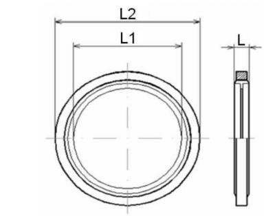 RVS Multiseal 1''1/2 BSP