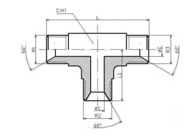 RVS T-koppeling 1/2
