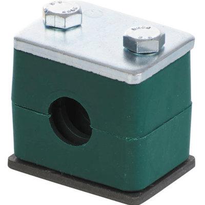 Versterkte buisklem enkel compleet 40 mm
