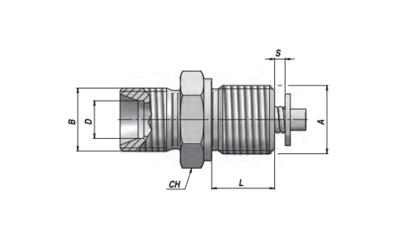 Slangbreukventiel adapter - VUBA-DIN 1/2