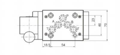NG10 handbediend Cetop 4/2 stuurventiel, AB gesloten, PT verbonden