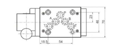 NG10 handbediend Cetop 4/2 stuurventiel, H-middenstand