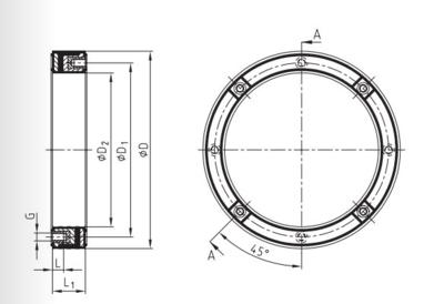 Dempingsflens 450 mm