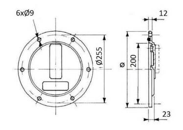 Inspectieluik tank 275mm inclusief afdichting