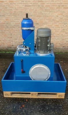 Hydraulisch powerpack 200 liter tank met accumulator