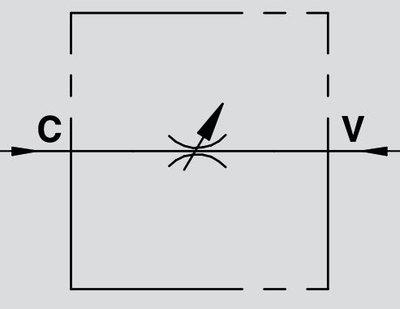 Dubbelwerkend snelheids regelventiel - VRFB 3/8''