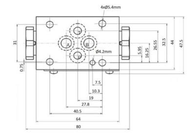 NG6 hydrauliek druk gestuurde terugslagklep in A