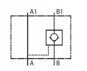 NG6 hydrauliek druk gestuurde terugslagklep in B