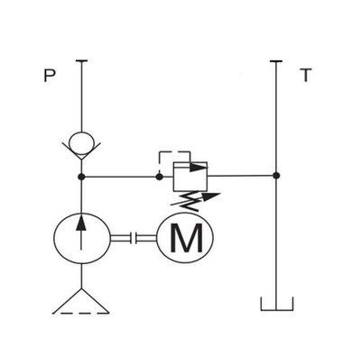 Tussenblok dubbelwerkend PT-circuit