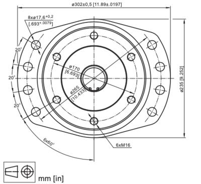 M+S VMF630 Hydraulische motor 630cc