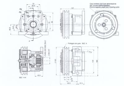 Elektromagnetische koppeling 24V - 10 daNm