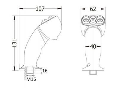 2 knoppen ergonomische joystick