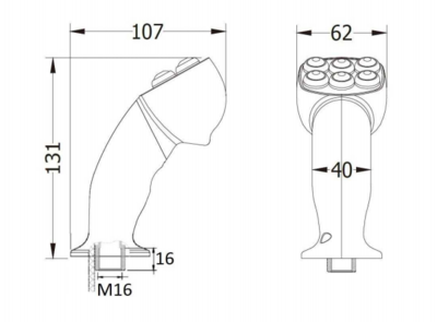 4 knoppen ergonomische joystick