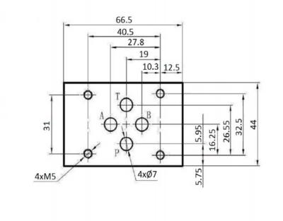 NG6 24V Cetop Elektrisch 4/2 stuurventiel, PA verbonden