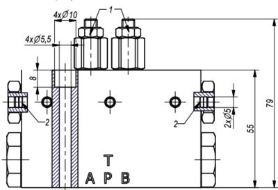 NG10 Cetop automatisch omschakelventiel