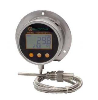 Capillaire digitale inbouw thermometer met onder aansluiting 1/2