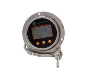 Capillaire digitale inbouw thermometer met achter aansluiting 1/2