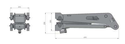 3,5 ton hydraulische kieper schaar cilinder