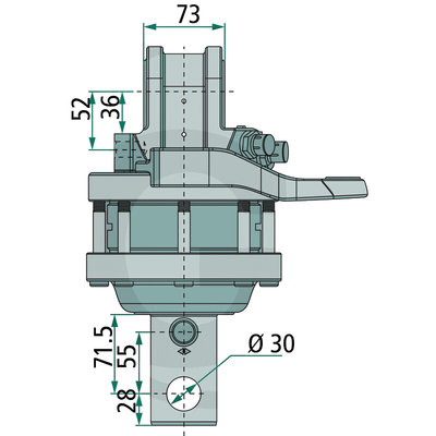 Rotator 4,5 ton met Ø59 mm as