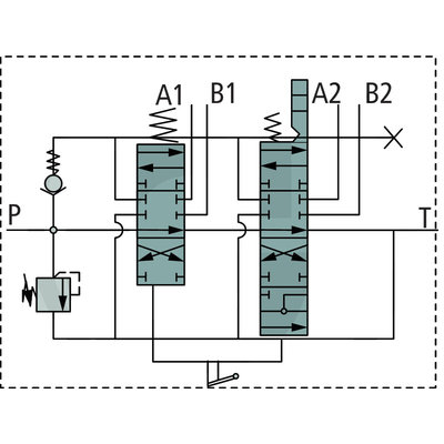 Voorlader stuurventiel 2 functies P80 met joystick zonder on/off functies 2000mm kabel