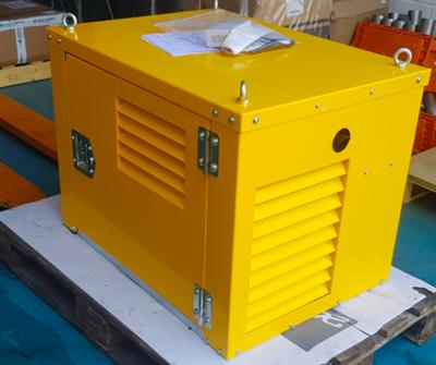 10pk hydraulisch diesel powerpack met Yanmar motor in dichte kast