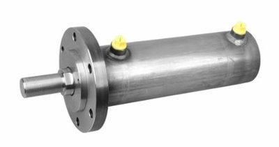 Dubbelwerkende cilinder 60x35x100mm met bevestigingsflens