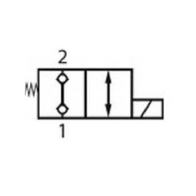 2/2 hydrauliek klep NC double lock, 3/8