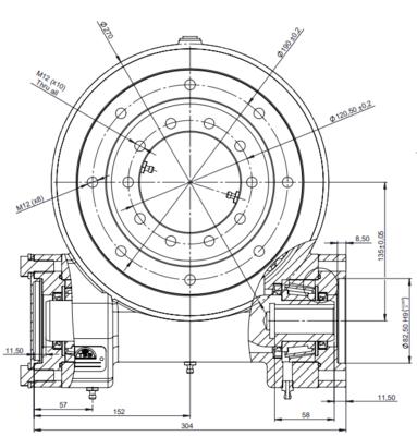 Hydraulische draaikrans 1:44 buitendiameter 270mm